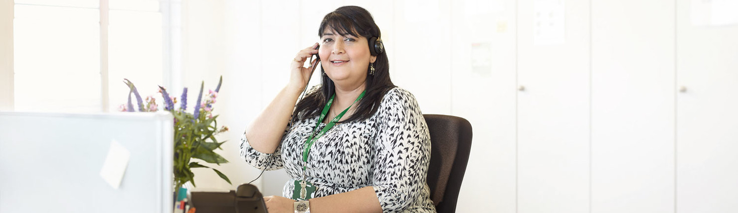Macmillan Support Line volunteer